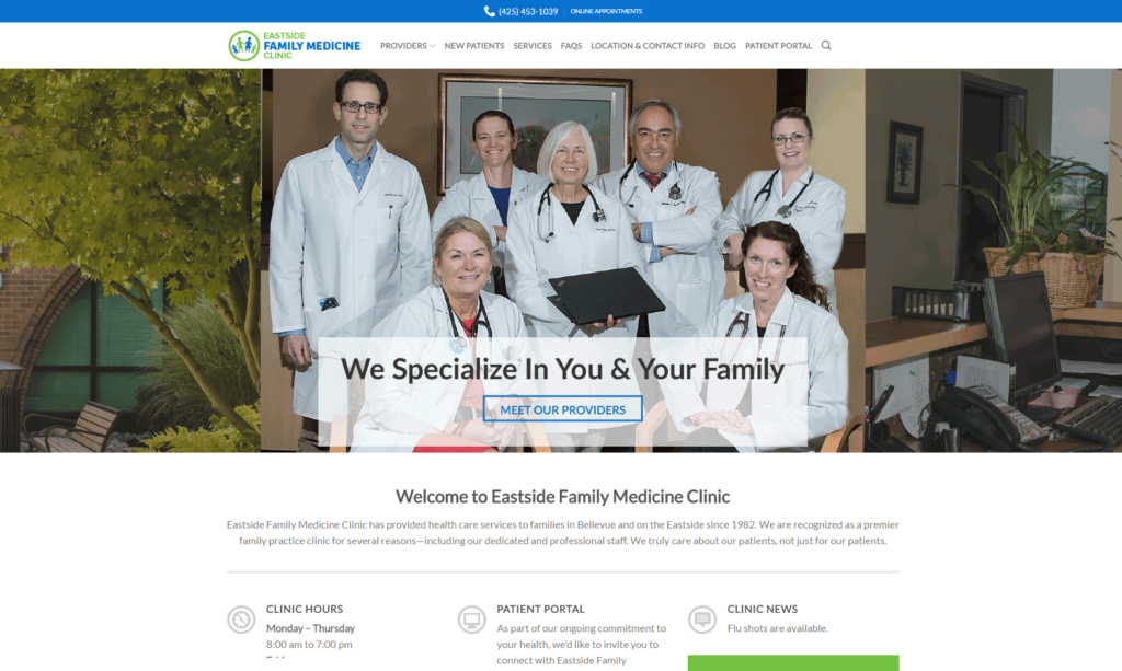 healthcare digital marketing eastside family medicine